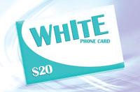 White Phone Card $20